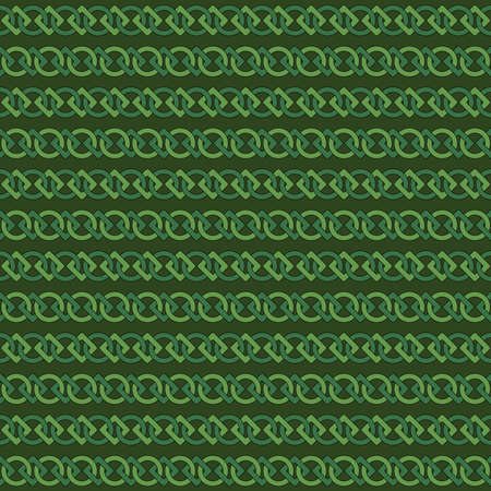 green chains. circles and squares. vector seamless pattern. geometric repetitive background. fabric swatch. wrapping paper. continuous print. geometric shapes. design element for home decor, apparel