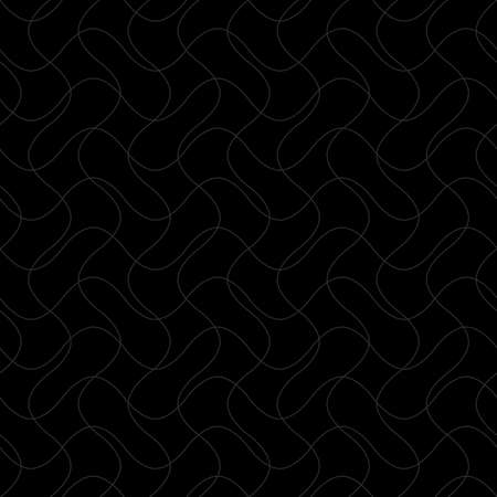 intersecting waves. vector seamless pattern. black repetitive background. fabric swatch. wrapping paper. continuous print. design element for textile, apparel, decor. modern stylish texture 向量圖像