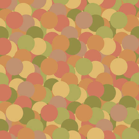 circle shapes. geometric texture. vector seamless pattern. repetitive background. autumn colors. fabric swatch. wrapping paper. continuous print. design element for home decor, apparel, textile, cloth