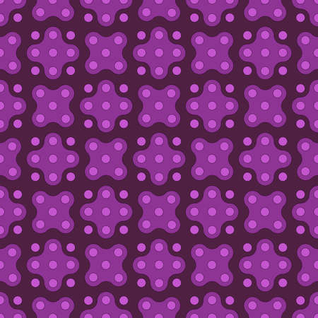 circles and abstract geometric shapes. vector seamless pattern. purple repetitive background. fabric swatch. wrapping paper. continuous print. design element for home decor, apparel, textile, cloth 向量圖像