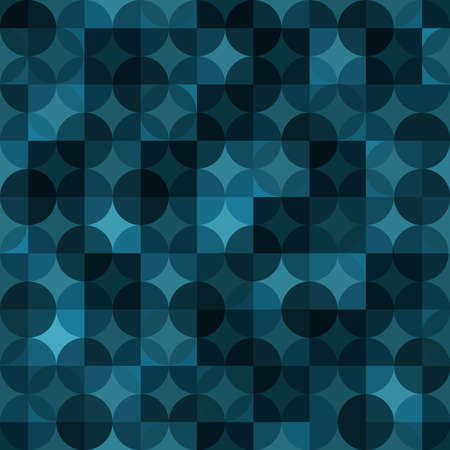 circles and squares. vector seamless pattern. blue repetitive background. fabric swatch. wrapping paper. continuous print. geometric shapes. design element for home decor, apparel, textile, cloth