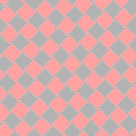 abstract geometric shapes. vector seamless pattern. pink and gray repetitive background. fabric swatch. wrapping paper. continuous print. layered design element for home decor, apparel, textile, cloth