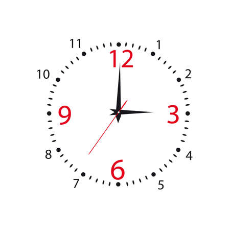 Dial of hours on a white background Vector