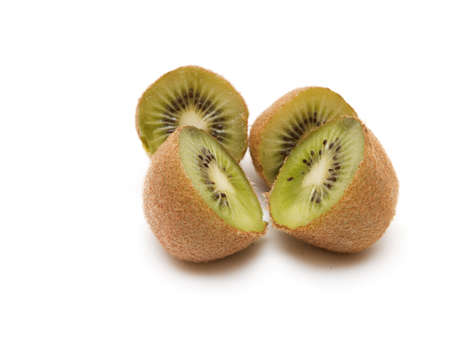 fruit composition from kiwi fruits on a white background