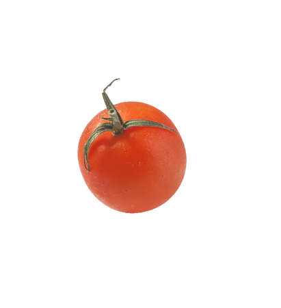 ripe red tomato on a white background