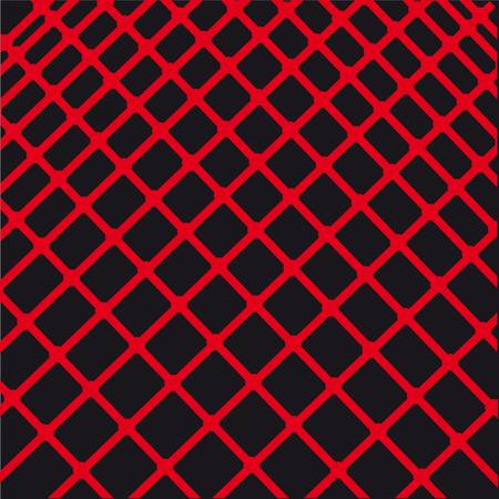 composition of abstract red lines on a black background.