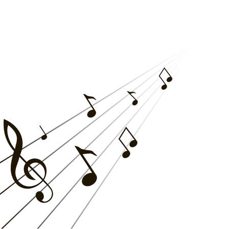 crotchets: composition from music notes on a white background