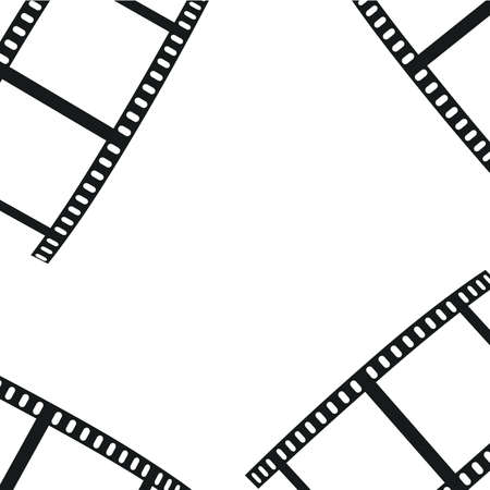 The composition of the film on a white background. Vector