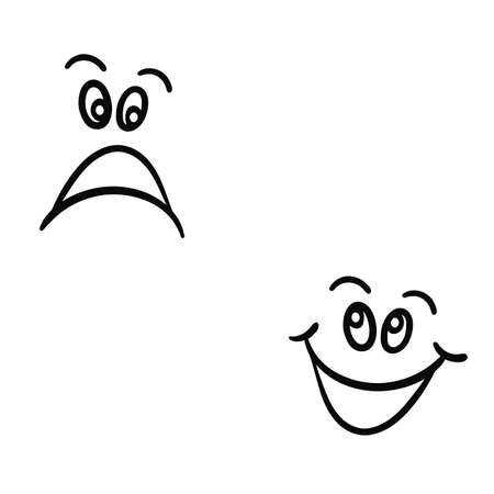 Cheerful caricature on a white background.Vector Stock Vector - 16264417