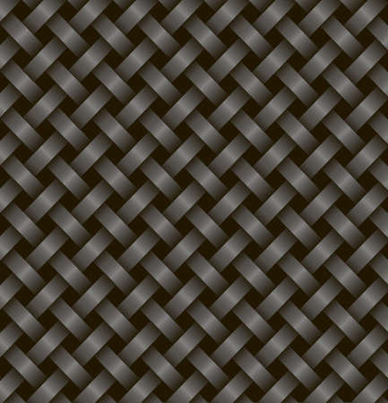 two black ribbons woven together on a black background.Vector