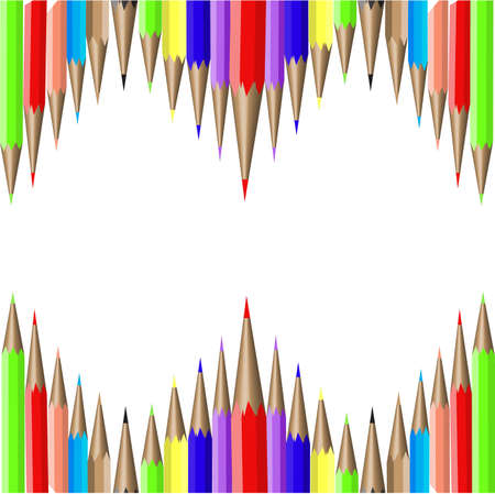 colored pencils on a white background. Stock Vector - 17150180