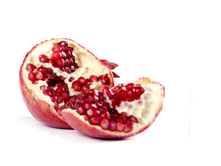 Fruit composition of pomegranate on a white background Stock Photo - 17365351