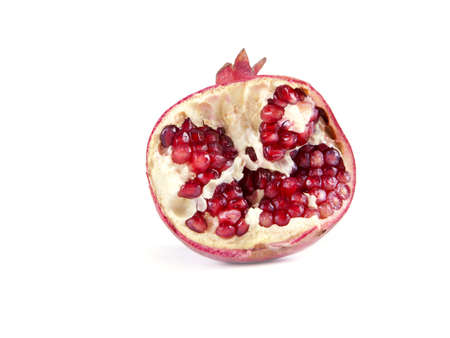 Fruit composition of pomegranate on a white background Stock Photo - 17365383