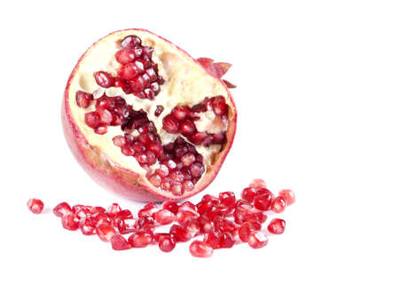 Fruit composition of pomegranate on a white background Stock Photo - 17563630