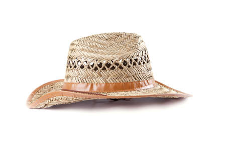 straw hat on a white background Stock Photo