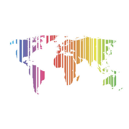 the world map on a white background  Vector Stock Vector - 17563643