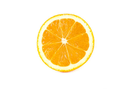 Fruit composition of orange on a white background