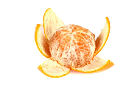 Fruit composition of tangerine on white background Stock Photo