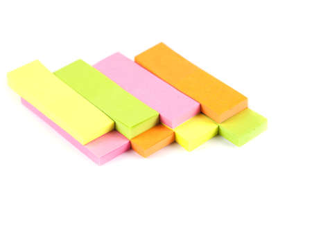 Office composition  Self-adhesive notes on a white background