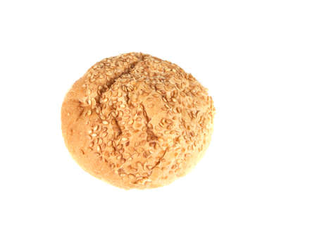 bun with sesame seeds on a white background Stock Photo