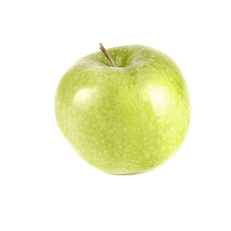 Fruit composition of a green apple on a white background Vector