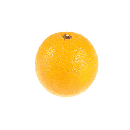Fruit composition of a ripe orange on a white background Vector  Illustration