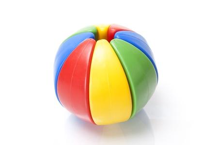 colour puzzle ball on white background photo