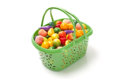 Shopping basket from the supermarket filled with fresh fruit  Stock Photo - 12417977