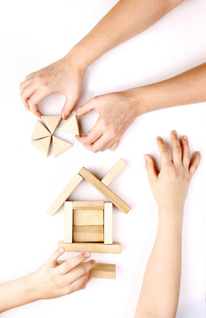 Wooden toys for the building photo