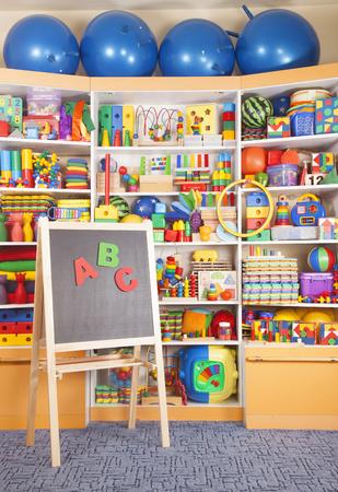 school desk in the children room photo
