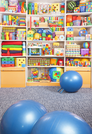 large store: fitball in the children room