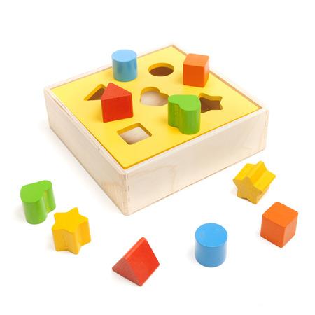 sorter child toy on the white