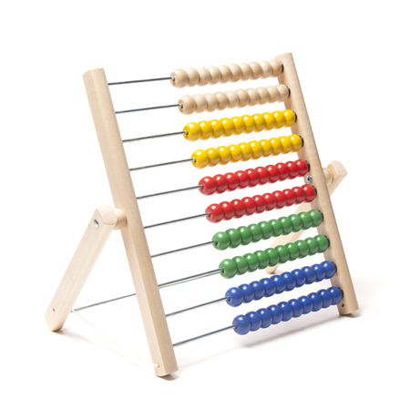 colorful beads: Abacus with many colorful beads Stock Photo