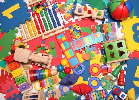 非常に多くの子供のおもちゃ 写真素材