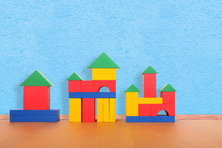 playroom: color blocks on the floor in a playroom
