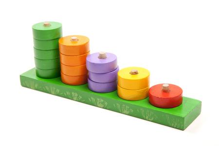 wooden toy on white background Stockfoto