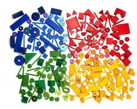 very many colour kids toys