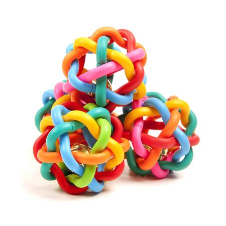 many colour toys on the white Stockfoto