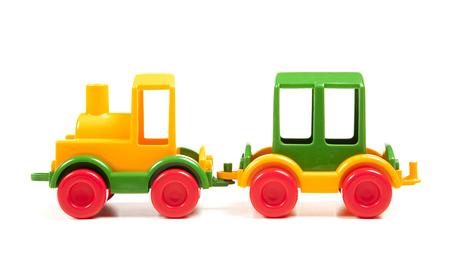 colour plastic train Stockfoto