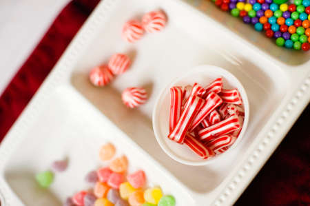 christmas candies: Assortment of colorful Christmas candies Stock Photo