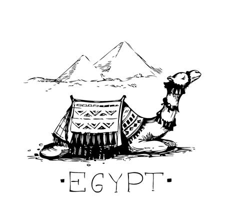 Egypt sketch. Vector illustration Illustration
