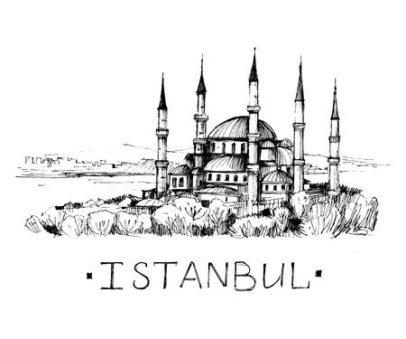 Istanbul sketch. Vector illustration