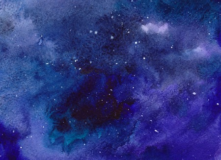 Watercolor space background. Hand drawn illustration Stock fotó
