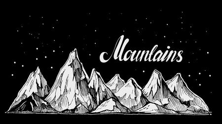 Mountains sketch. Illusztráció