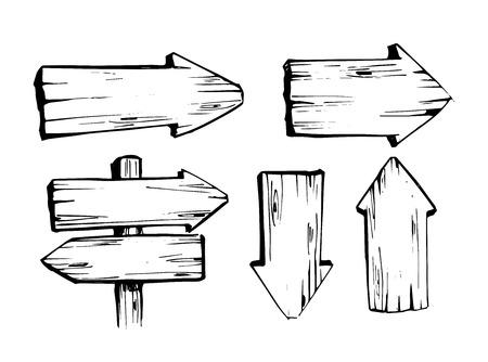 Set of wooden arrows.