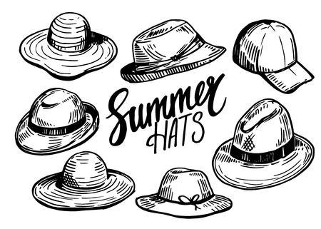 Set of hats Illusztráció