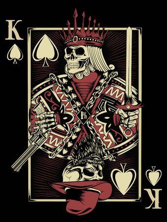 King Card Concept Art Vector Design Ilustração Vetorial