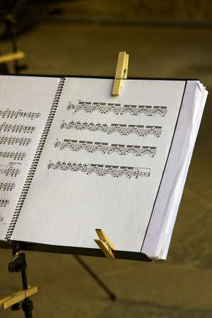 letras musicales: Partitura musical