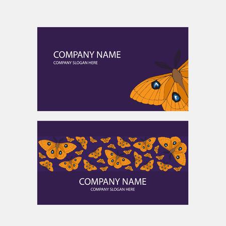 batterfly: Modern business card template, batterfly illustration