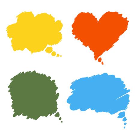 balon: comic speech bubbles design elements set isolated vector illustration Illustration